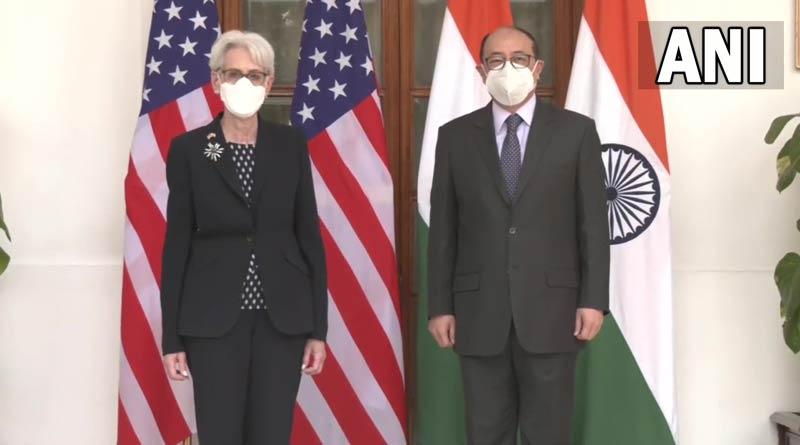 US Deputy Secretary of State Wendy Sherman and Foreign Secretary Harsh V Shringla hold a bilateral meeting | Sangbad Pratidin