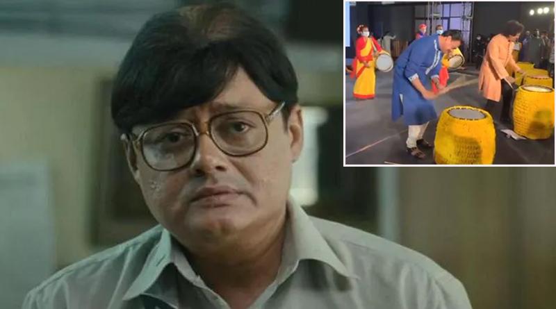 Actor Saswata chatterjee's Dhak Video Goes Viral | Sangbad Pratidin