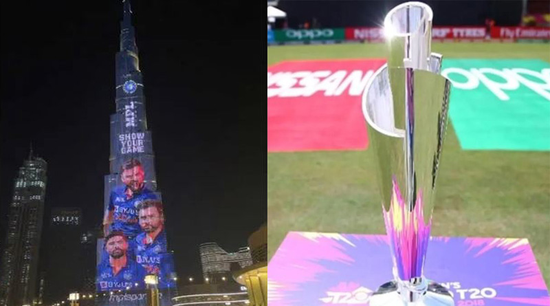 Team India's T20 World Cup jersey displayed on Burj Khalifa। Sangbad Pratidin