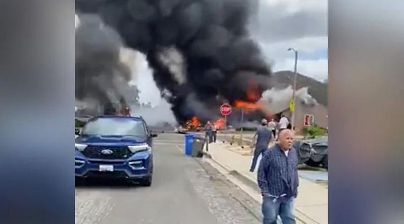 A small plane crashed into a residential area of a California city। Sangbad Pratidin