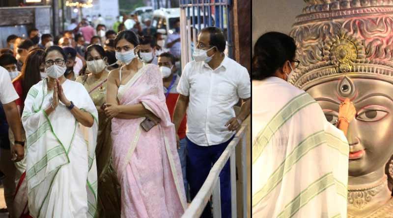 WB CM Mamata Banerjee inaugurates Durga Puja । Sangbad Pratidin